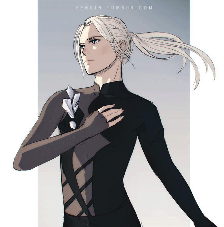 Картинки виктора с длинными волосами